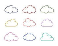 Cloud shapes collection Stock Photo