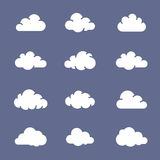 Cloud shapes collection Royalty Free Stock Image