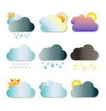 Cloud shapes collection Stock Photos