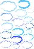 Cloud shapes illustration Royalty Free Stock Photo