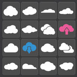 Cloud shapes vector set Stock Photography