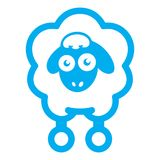 Cloud sheep icon royalty free illustration