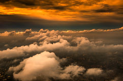 The cloud sheets in the sunset Royalty Free Stock Photography