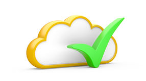 Cloud and sign Stock Image