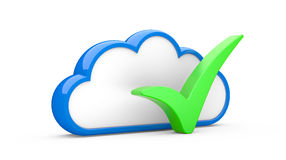 Cloud and sign Royalty Free Stock Image