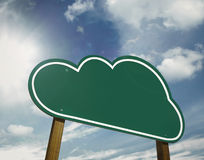 Cloud sign board Stock Image