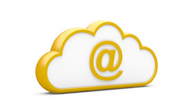 Cloud and sign the Internet Royalty Free Stock Images