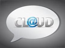Cloud at sign speech bubble Royalty Free Stock Image