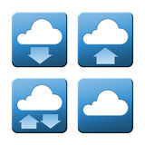 Cloud signs. A set of some nice and modern cloud signs with clipping path Stock Images