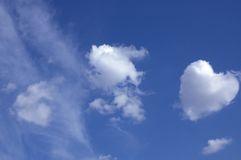 Cloud similar to heart Royalty Free Stock Images