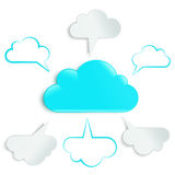 Cloud with six in a circle Royalty Free Stock Image