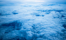Cloud sky on airplane in evening Royalty Free Stock Image