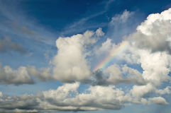 Cloud and Sky Background with Rainbow Stock Images