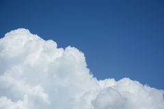Cloud and sky background. White cloud and blue sky background royalty free stock photos