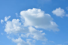 Cloud and sky background. White cloud and blue sky background royalty free stock photo