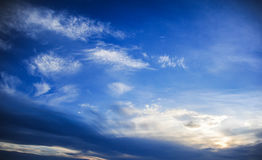 Cloud and sky. Beautiful clouds in various forms in the sky Prong Stock Image