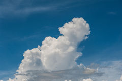 Cloud and sky. Beautiful clouds in various forms in the sky Prong Royalty Free Stock Photography