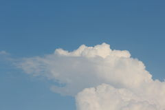 Cloud in sky. Beautiful natural view of white clouds in blue sky. amazing texture of soft clouds Stock Photos