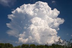 Cloud in the sky royalty free stock photos