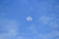 Cloud sky daytime and the moon Royalty Free Stock Photos