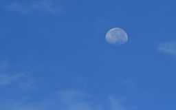 Cloud sky daytime and the moon Stock Photography