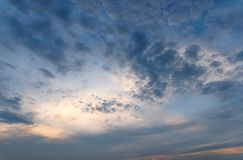 Cloud and sky or Dramatic sky background.  royalty free stock photos