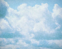 Cloud and sky on grainy paper. Royalty Free Stock Images