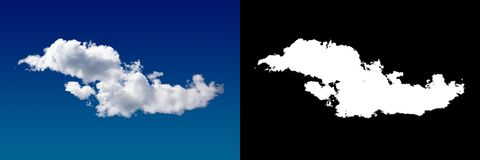 Cloud in the sky. A halftone clipping mask for gently carving out the cloud. Source material for use in design Royalty Free Stock Photography