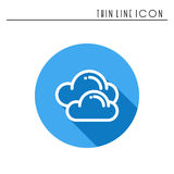 Cloud, sky, heaven, line simple icon. Weather symbols. Meteorology. Forecast design element. Template for mobile app Stock Image
