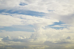 Cloud on sky. Nature cloudscape with blue sky and white cloud Royalty Free Stock Photos