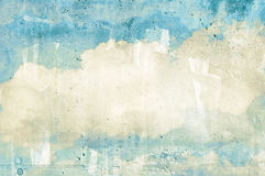 Cloud, sky painted on a wall Royalty Free Stock Photo