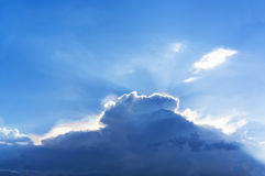Cloud and Sky with Raincloud. Royalty Free Stock Image