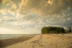 Cloud sky on the sand beach Stock Photos