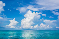 Cloud sky sea blue Royalty Free Stock Image