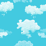 Cloud in the sky seamless pattern, air nature decorative background, texture for fabric design vector illustration Stock Photos
