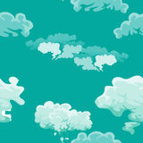 Cloud in the sky seamless pattern, air nature decorative background, texture for fabric design vector illustration Stock Images