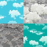 Cloud in the sky seamless pattern, air nature decorative background, texture for fabric design vector illustration Stock Photography
