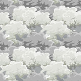 Cloud in the sky seamless pattern, air nature decorative background, texture for fabric design vector illustration Royalty Free Stock Photo
