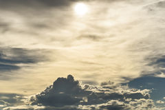 Cloud sky storm. Sky background royalty free stock photography