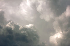 Cloud and sky before storm Royalty Free Stock Photos