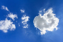 Cloud and Sky. Sun behide cloud with blue sky at noon Royalty Free Stock Image