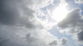 Cloud and sky and sun time lapse stock video