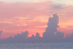 Cloud on sky in sunrise time. Stock Photography