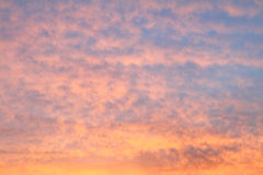 Cloud on sky in sunrise time. Stock Photos