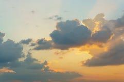 Cloud on sky at  sunset Stock Photos