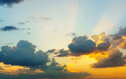 Cloud on sky at  sunset Royalty Free Stock Photography