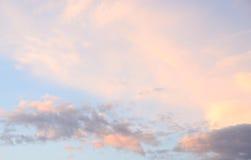 Cloud sky at sunset. Royalty Free Stock Photos