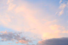 Cloud sky at sunset. Stock Images