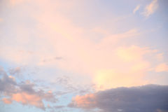 Cloud sky at sunset. Stock Image