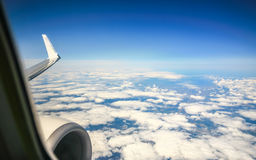 Cloud sky view from aeroplane Royalty Free Stock Images